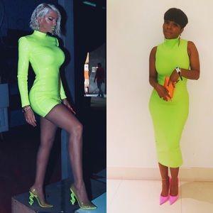 Abi project neon bandage dress